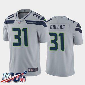 Seattle Seahawks DeeJay Dallas Gray Jersey